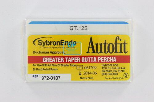 SYBRON-ENDO ANALYTIC AUTOFIT GREATER TAPER GUTTA PERCHA POINTS .12 (50st)