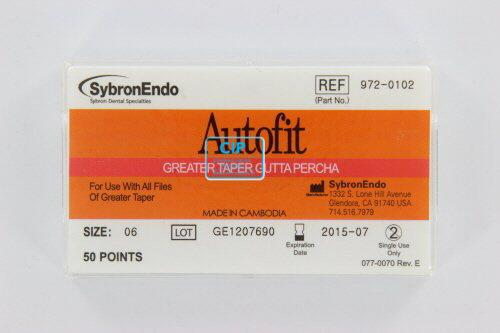 SYBRON-ENDO ANALYTIC AUTOFIT GREATER TAPER GUTTA PERCHA POINTS .06 (50st)