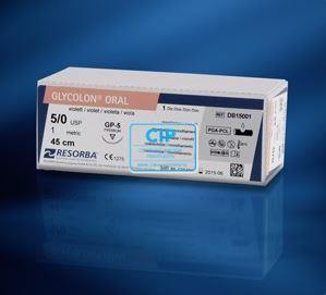 RESORBA GLYCOLON HECHTDRAAD VIOLET 5.0 DSM-16 3/8 GEBOGEN SNIJDENDE NAALD 45cm (24st)