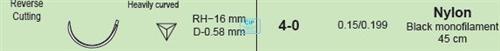 MANI SUTURES NR.21 4-0 RH16 HECHTDRAAD GEBOGEN NAALD 45cm (12st)