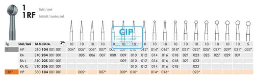MEISINGER HP BOREN ROND 1/004 (10st)