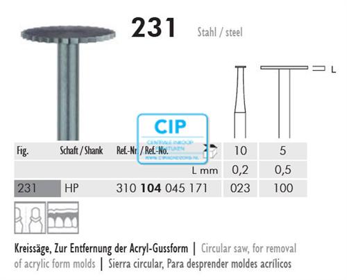 MEISINGER HP CIRKELZAAG 231/100 (5st)