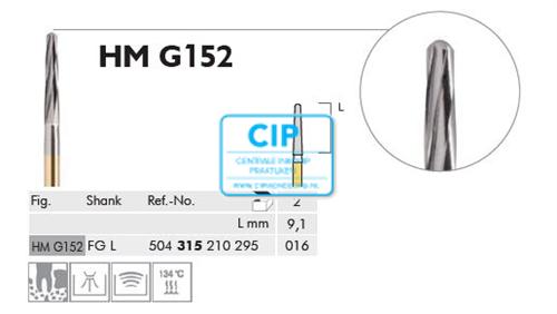 MEISINGER FG-L CARBIDE BONE FRAIS G152/016 (2st)