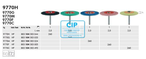 MEISINGER LUSTER CERAMIC POLISHER HP X-FIJN GEEL 9770C / 260 (1st)