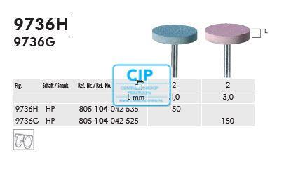 MEISINGER LUSTER CERAMIC WHEEL HP MEDIUM ROZE 9763G / 150 (2st)
