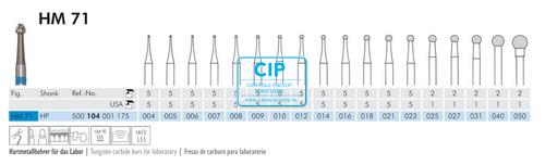 MEISINGER HP CARBIDE FRAIS 71/005 (5st)