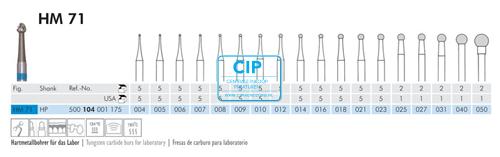 MEISINGER HP CARBIDE FRAIS 71/009 (5st)