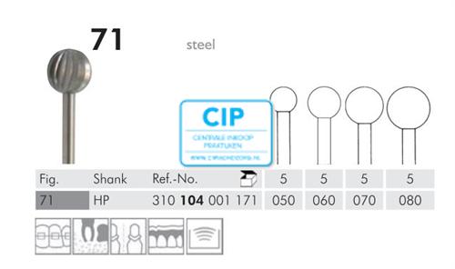 MEISINGER HP STAAL FRAIS 71/050 (5st)