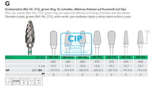 MEISINGER HP CARBIDE FRAIS 79G060 (1st)