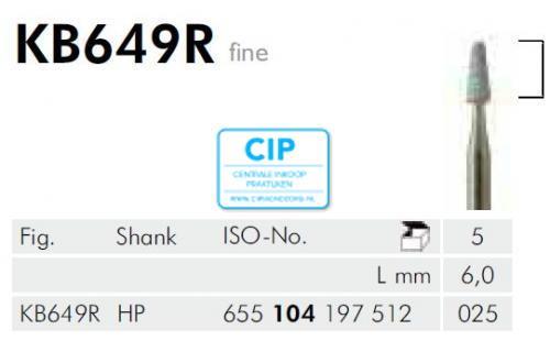 MEISINGER HP KERAMISCHE SLIJPKOP KB649R (5st)