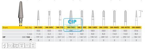 MEISINGER HP CARBIDE FRAIS 23EX023 (2st)