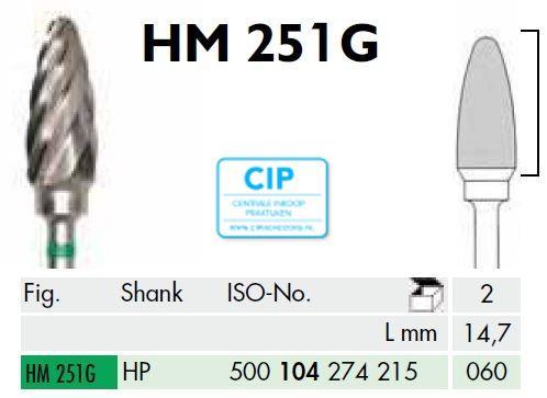 MEISINGER HP CARBIDE FRAIS 251G060 (1st)