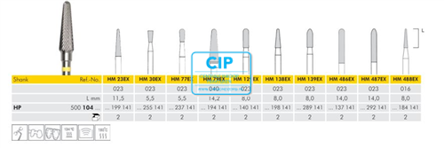 MEISINGER HP CARBIDE FRAIS 77EX023 (2st)