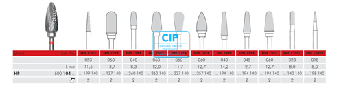MEISINGER HP CARBIDE FRAIS 129FX023 (2st)