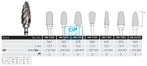 MEISINGER HP CARBIDE FRAIS DBS 79SX070 (1st)