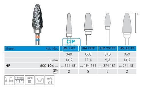 MEISINGER HP CARBIDE FRAIS 251FF040 (1st)