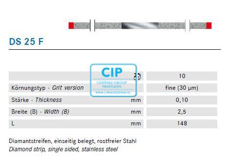 KOMET SCHUURSTRIP DIAMANT EXTRA-FIJN ROOD NR.DS-25F (10st)
