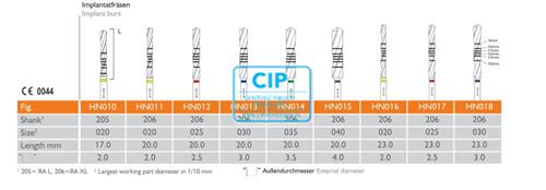 MEISINGER 3D NAVIGATION CONTROL SPIRAL IMPLANT BUR HN013