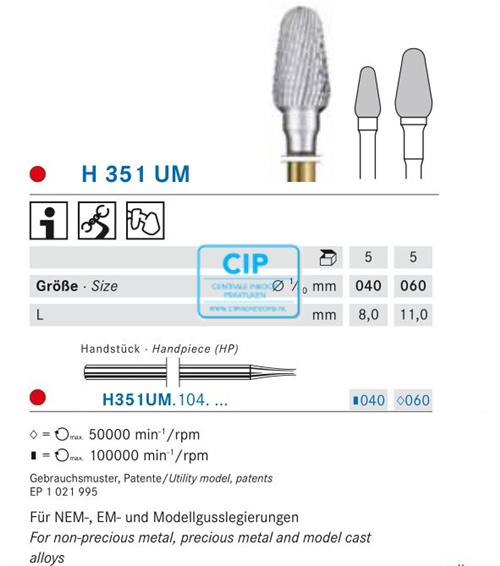 KOMET HP CARBIDE H351UM060 (5st)