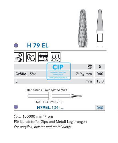 KOMET HP CARBIDE FRAIS H79EL040 (5st)
