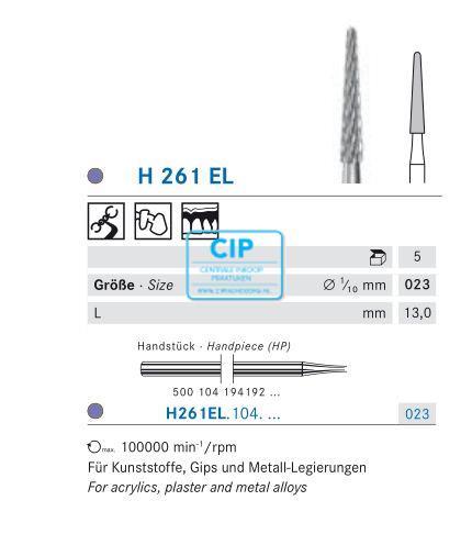 KOMET HP CARBIDE FRAIS 261EL023 (5st)