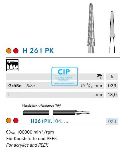 KOMET HP CARBIDE FRAIS H261PK023 (5st)