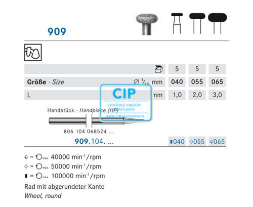 KOMET HP DIAMANT 909/065 (5st)