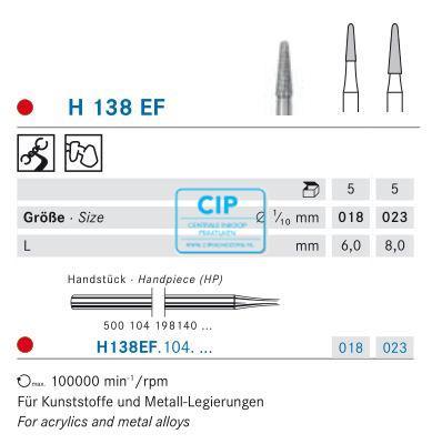KOMET HP CARBIDE FRAIS H138EF023 (5st)