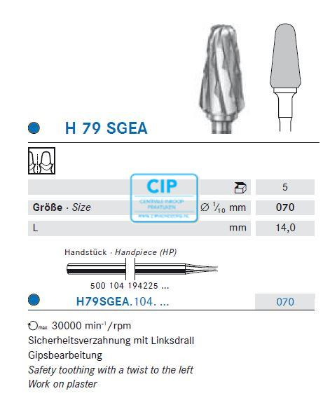 KOMET HP CARBIDE FRAIS H79SGEA070 (5st)