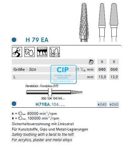 KOMET HP CARBIDE FRAIS H79EA50 (5st)