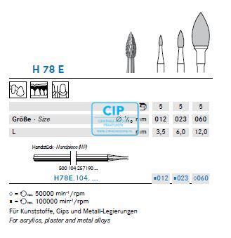 KOMET HP CARBIDE FRAIS H78E023 (5st)