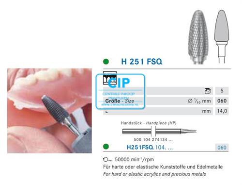 KOMET HP CARBIDE FRAIS 251FSQ060 (5st)