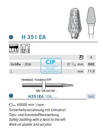 KOMET HP CARBIDE FRAIS H351EA060 (5st)