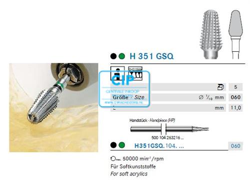 KOMET HP CARBIDE FRAIS H351GSQ060 (5st)
