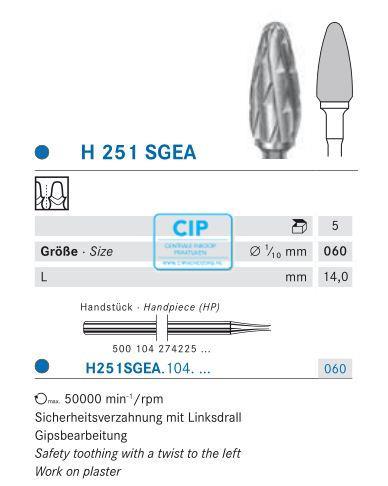 KOMET HP CARBIDE FRAIS H251SGEA060 (1st)