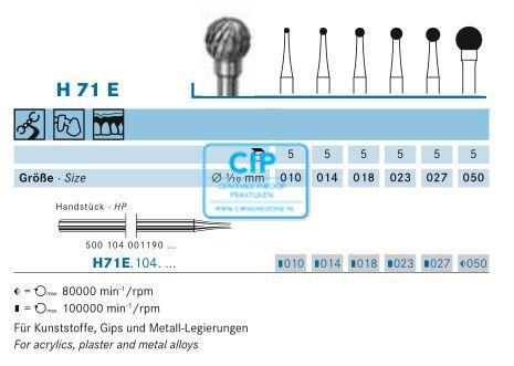 KOMET HP CARBIDE FRAIS H71E027 (1st)