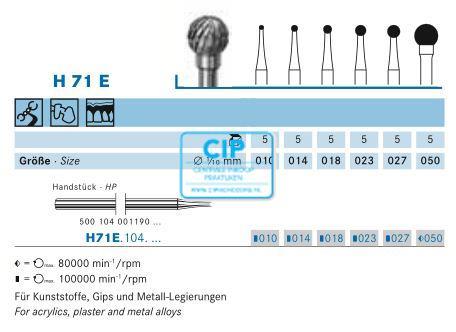 KOMET HP CARBIDE FRAIS H71E050 (1st)