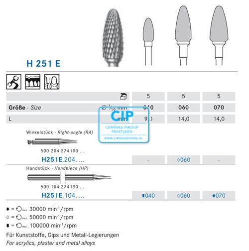 KOMET HP CARBIDE FRAIS H251E060 (1st)