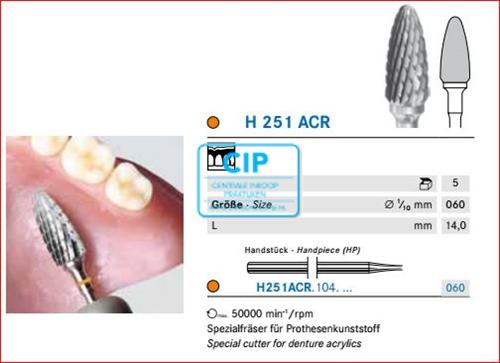 KOMET HP CARBIDE FRAIS H251ACR060 (5st)