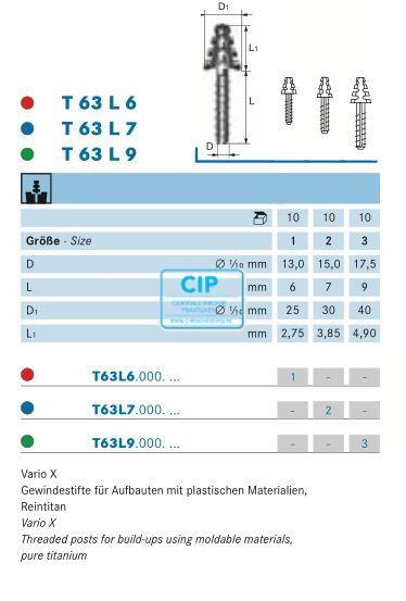 KOMET VARIO X T63L6A SIZE 1 ROOD (5st)