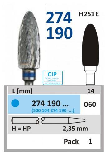 HORICO HP CARBIDE FRAIS 274190/060 (1st)