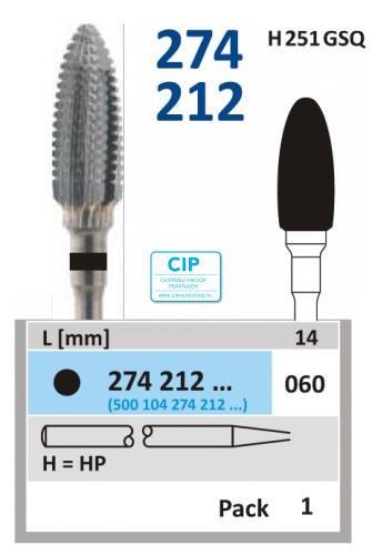 HORICO HP CARBIDE FRAIS 274212/060 (1st)
