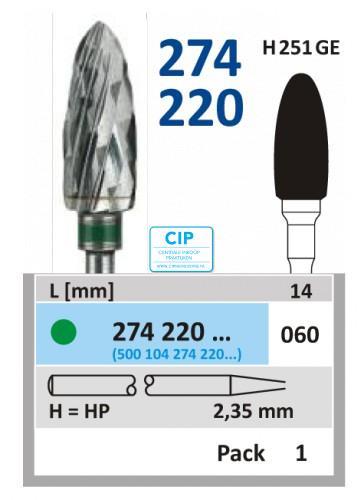 HORICO HP CARBIDE FRAIS 274220/060 (1st)