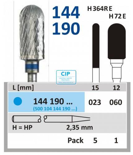 HORICO HP CARBIDE FRAIS 144190/023 (5st)