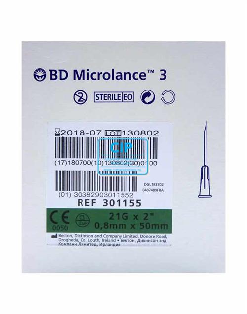 B&D MICROLANCE NAALDEN 0,80 x 50mm ( 21G x 2 ) (100st)