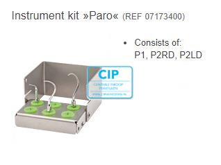 W&H INSTRUMENT SET PARO (P1, P2RD, P2LD + HOUDER)