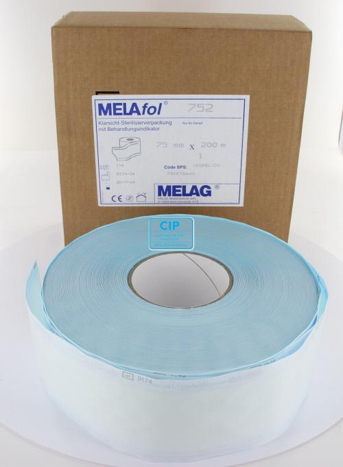 MELAG MELASEAL STERILISATIEZAKJES OP ROL 7,5cm (200mtr)