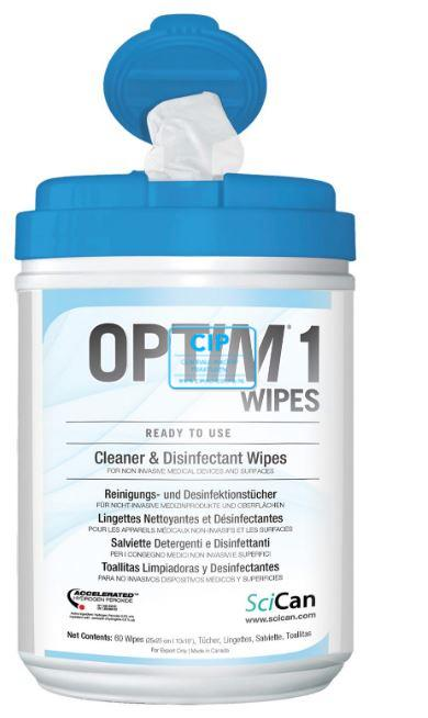 SCICAN OPTIM 1 DESINFECTIE WIPES 15x18cm (160st)