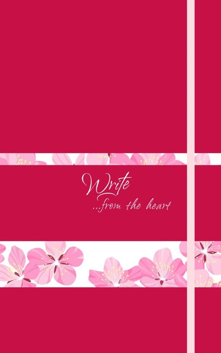 Write Journal: From the Heart, Pink Flowers (Magenta)