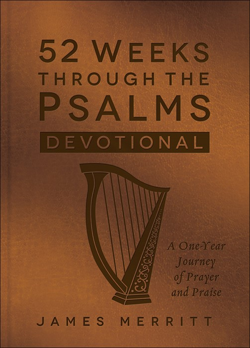 52 Weeks Through the Psalms Devotional (Leather Binding)